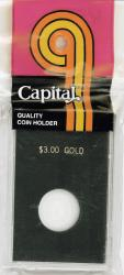 Capital Holder - $3 Gold, 2x3