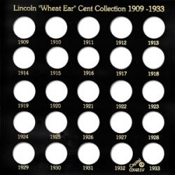 Capital Holder - Lincoln Wheat Ear Cents 1909-1933