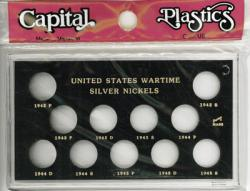 Capital Holder - Wartime Silver Nickels 1942-1945 (Meteor)