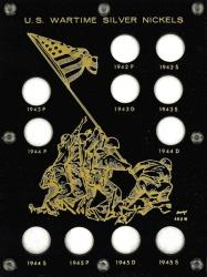 Capital Holder - Wartime Silver Nickels 1942-1945 (Iwo Jima)