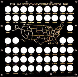 Capital Holder - State Quarters Square (50 Slots)