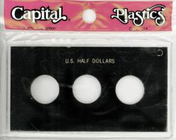 Capital Holder - U.S. Half Dollars (3 Holes, No Dates)