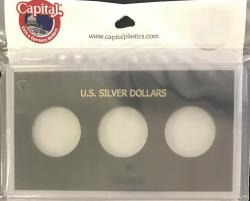 Capital Holder - U.S. Silver Dollars (3 Holes, No Dates)