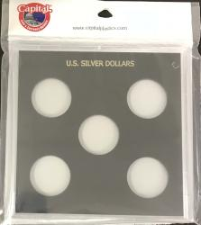 Capital Holder - U.S. Silver Dollars (Galaxy, 5 Holes, No Dates)