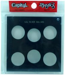 Capital Holder - U.S. Silver Dollars (Galaxy, 6 Holes, No Dates)