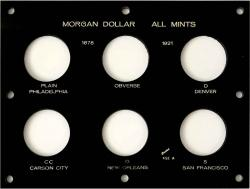 Capital Holder - Morgan Dollar All 5 Mints