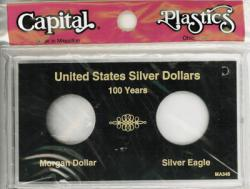 Capital Holder - Silver Dollar 100 Year Set Meteor (Morgan and Silver Eagle)