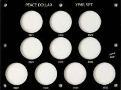 Capital Holder - Peace Dollar Year Set 1921-1935