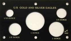 Capital Holder - Gold & Silver Eagles (5 Holes)