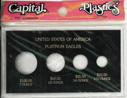 Capital Holder - Platinum Eagles (100, 50, 25, 10), 3.5x6