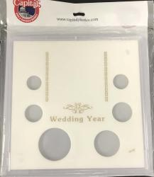 Capital Holder - Wedding Year (Cent through Large Dollar w/ Stand), 6x6