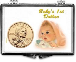 Edgar Marcus Snaplock Holder -- Baby's First Golden Dollar
