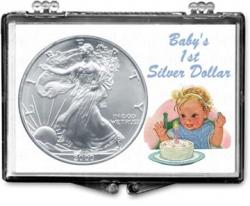 Edgar Marcus Snaplock Holder -- Baby's First Silver Dollar -- Silver Eagle