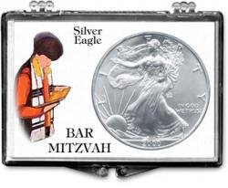 Edgar Marcus Snaplock Holder -- Bar Mitzvah -- Silver Eagle