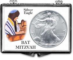 Edgar Marcus Snaplock Holder -- Bat Mitzvah -- Silver Eagle