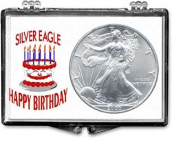 Edgar Marcus Snaplock Holder -- Birthday -- Cake -- Silver Eagle