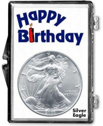 Edgar Marcus Snaplock Holder -- Birthday -- Candle -- Silver Eagle