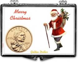 Edgar Marcus Snaplock Holder -- Christmas -- Santa -- Golden Dollar
