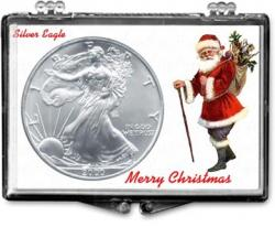 Edgar Marcus Snaplock Holder -- Christmas -- Santa -- Silver Eagle