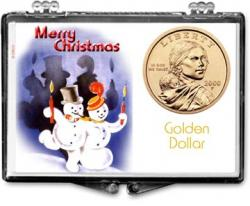 Edgar Marcus Snaplock Holder -- Christmas -- Snowmen -- Golden Dollar