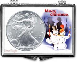 Edgar Marcus Snaplock Holder -- Christmas -- Snowmen -- Silver Eagle