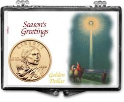 Edgar Marcus Snaplock Holder -- Christmas -- Star -- Golden Dollar