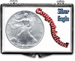 Edgar Marcus Snaplock Holder -- Congratulations -- Silver Eagle