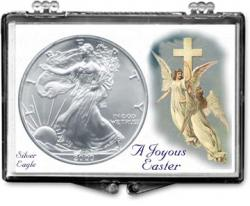 Edgar Marcus Snaplock Holder -- Easter -- Angels -- Silver Eagle