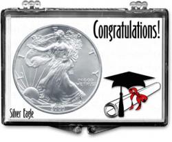 Edgar Marcus Snaplock Holder -- Graduation -- Cap & Diploma -- Silver Eagle