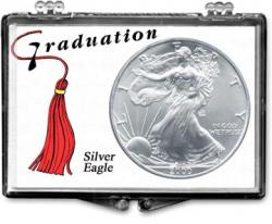Edgar Marcus Snaplock Holder -- Graduation -- Tassle, -- Silver Eagle