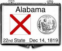 Edgar Marcus Snaplock Holder -- Alabama State Flag
