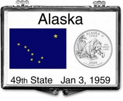 Edgar Marcus Snaplock Holder -- Alaska State Flag
