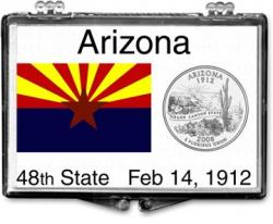 Edgar Marcus Snaplock Holder -- Arizona State Flag
