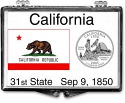 Edgar Marcus Snaplock Holder -- California State Flag