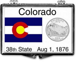 Edgar Marcus Snaplock Holder -- Colorado State Flag