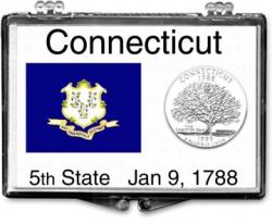 Edgar Marcus Snaplock Holder -- Connecticut State Flag