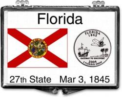 Edgar Marcus Snaplock Holder -- Florida State Flag