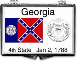Edgar Marcus Snaplock Holder -- Georgia State Flag