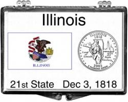 Edgar Marcus Snaplock Holder -- Illinois State Flag
