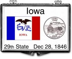 Edgar Marcus Snaplock Holder -- Iowa State Flag