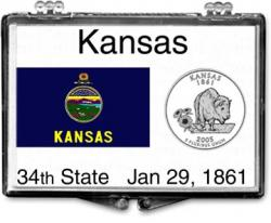 Edgar Marcus Snaplock Holder -- Kansas State Flag