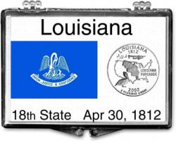 Edgar Marcus Snaplock Holder -- Louisiana State Flag