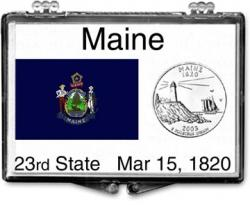 Edgar Marcus Snaplock Holder -- Maine State Flag