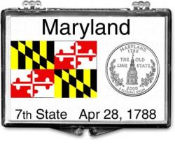 Edgar Marcus Snaplock Holder -- Maryland State Flag