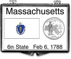 Edgar Marcus Snaplock Holder -- Massachusetts State Flag