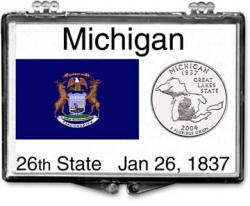 Edgar Marcus Snaplock Holder -- Michigan State Flag