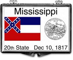 Edgar Marcus Snaplock Holder -- Mississippi State Flag