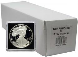 Guardhouse Tetra 2x2 Snaplocks -- Silver Eagle Size -- Box of 25 -- Box of 25