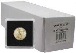 Guardhouse Tetra 2x2 Snaplocks -- 1/4 oz Gold Eagle Size -- Box of 25 -- Box of 25