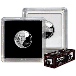 BCW 2x2 Snaplocks Nickel Size -- Box of 25